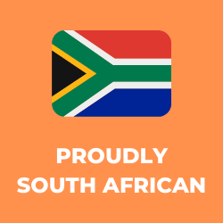 We are proudly South African